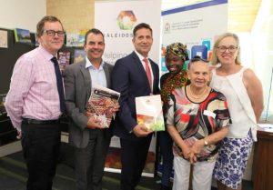 Mr Stuart Jardine, CEO City of Stirling; Councillor Mark Irwin City of Stirling Mayor; The Hon Paul Papalia MLA, Citizenship and Multicultural Interests Minister Paul Papalia ; Bella Ndayikeze; Mirrabooka Multicultural Centre Advisory Network; Oriel Green, Aboriginal Elder; Janine Freeman; Member for Mirrabooka.